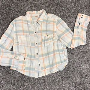 Free People crop western style button down
